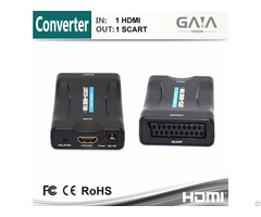Gaia High Speed Mini Hdmi To Scart Converter