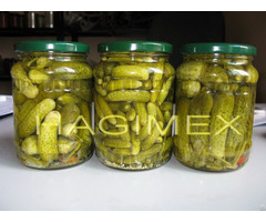 Pickled Cucumber Gherkins In Jar Tin And Drum