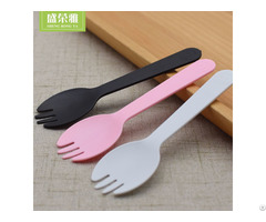 Disposable Plastic Mix Fork And Spoon