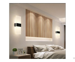 Indoor Decoration Acrylic Led Light Wall Lamp Modern For Bed Room