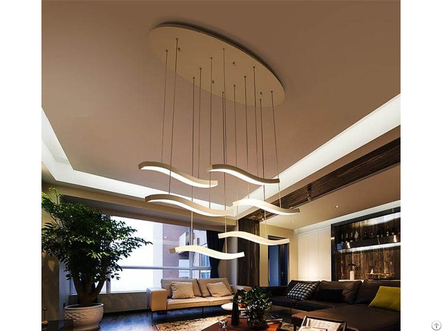 Restaurants Modern Minimalist Creative Simple Fashion Long Led Chandelier