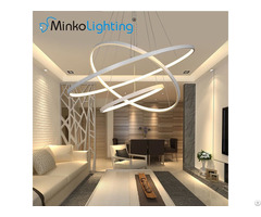 Acrylic Circle Lights Contemporary Chandeliers Round Hotel Led Pendant Lamp