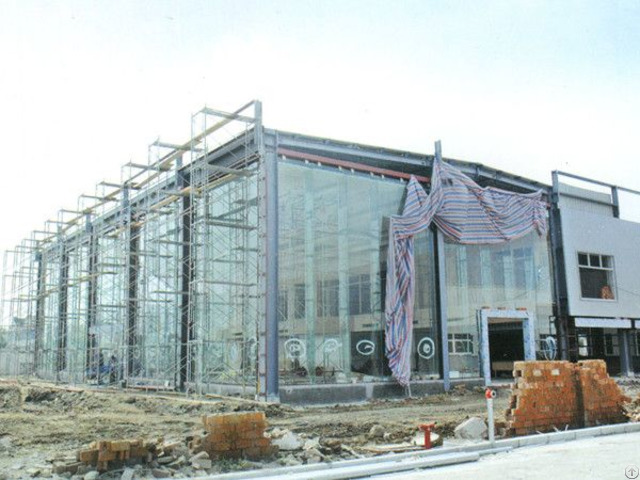 High Rise Steel Structure And Glass Curtain Wall Building For Commercial