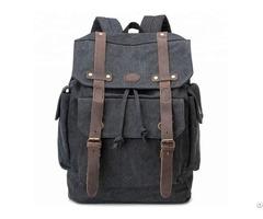 Cheap Custom Printed Logo Fashion Durable Rucksack Canvas Laptop Bag Backpack