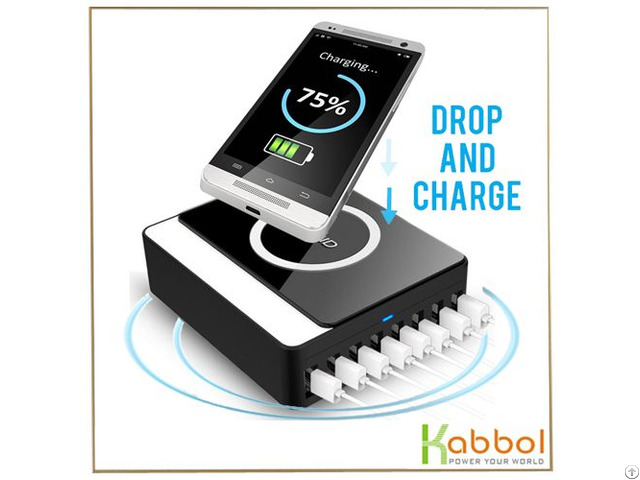 New 60w 8 Port Wireless Qi Usb Charger For Samsung Galaxy S7 S6 Edge Note 5