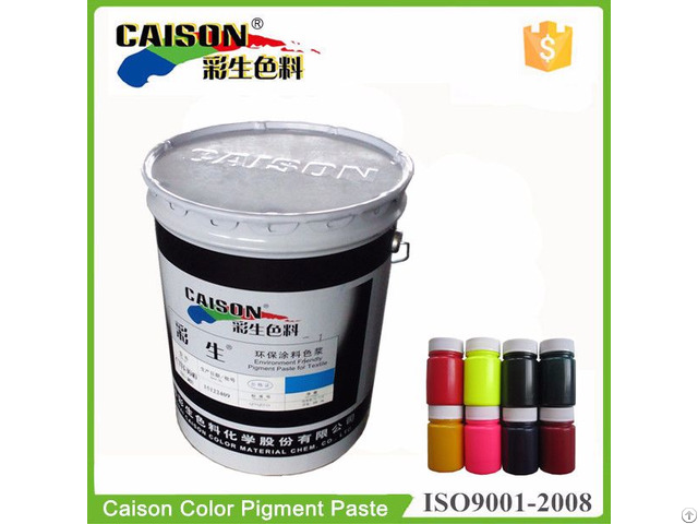 Eco Friendly High Concentrated Pigment Paste For Textiles