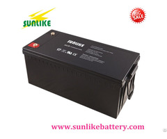 Sunlike Long Life Deep Cycle Solar Gel Battery For Power Supply