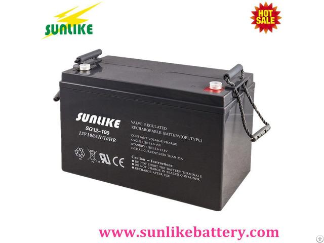 Sunlike 12v100ah Gel Accumulator Deep Cycle Power Battery For Solar