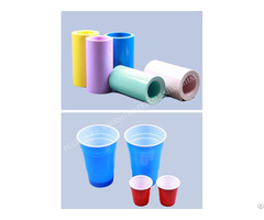 Twin Color Hips Pp Plastic Film Sheet Roll For Food Packaging Vacuum Forming