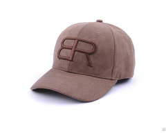 Hot Sale 3d Embroidery Suede Baseball Cap