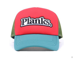 Applique Embroidery Sponge Front Panel Mesh Cap
