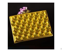 Food Grade Chocolate Pet Plastic Blister Packaging Inner Tray