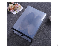 Clear Foldable Boot Storage Boxes Eco Friendly Transparent Plastic Shoe Box