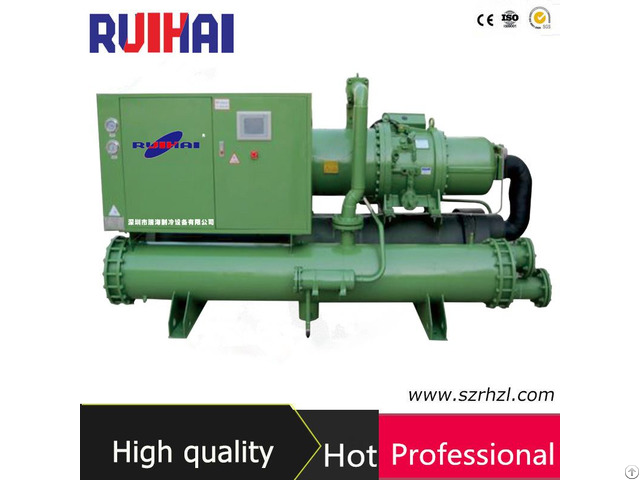 Low Temperature Glycol Water Cooled Industrial Screw Chiller