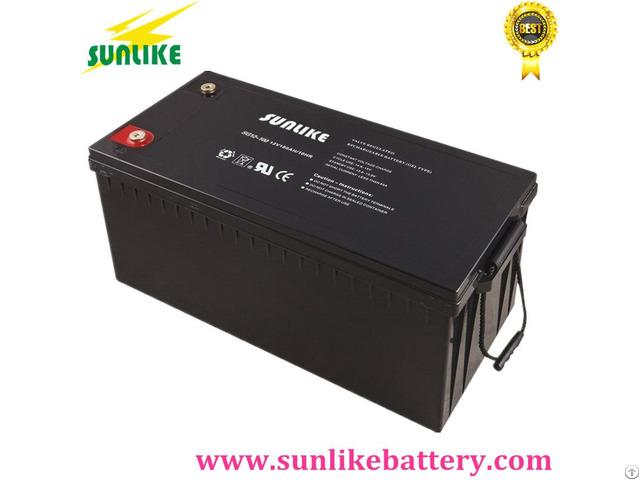 Deep Cycle Solar Power Gel Battery 12v180ah