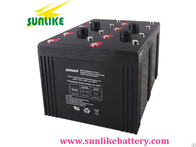 2v1500ah Rechargeable Lead Acid Agm Gel Battery For Solar Systems
