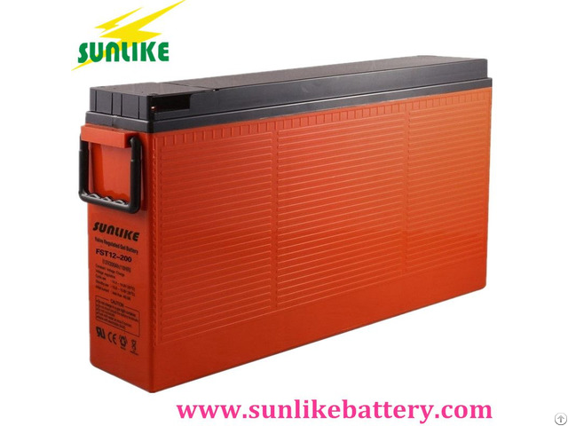 Front Access Terminal Telecom Battery 12v200ah