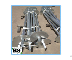 Galvanized Square Shaft Steel Pile With Helical Plates