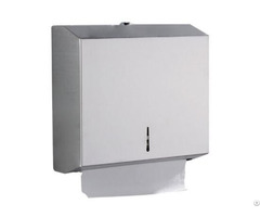 Stainless Steel Wall Mounted Folded Paper Towel Tissue Dispenser Lockable