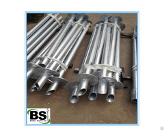 Deep Foundation Galvanized Helical Anchors