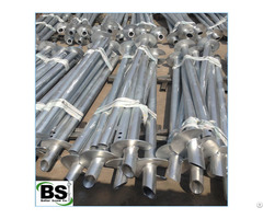 Tubular Hollow Sections Screw Piling For Retaining Or Foundation Repair