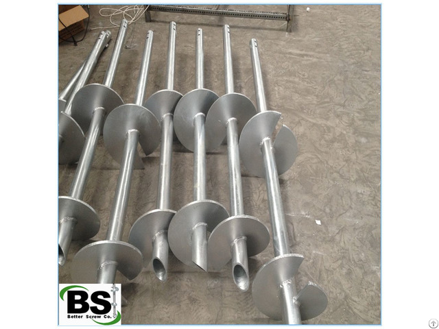 Construction Support Helical Screw Steel Pipe With Helix Plate