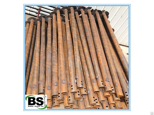 Galvanized Steel Round Shaft Helical Pile