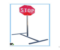 Square Tube Anchor Base Post For Supporting Traffic Sign In 12 And 14 Gauge Thickness