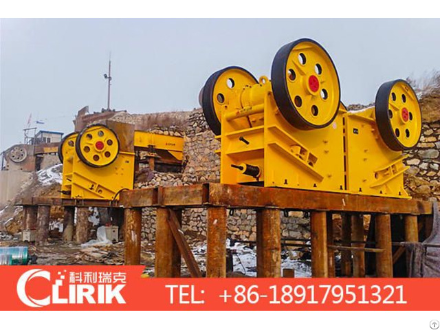 Jaw Stone Crushing Industrial Machines