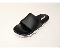 Men Slippers Eva Slide Pu Sandals Black Color