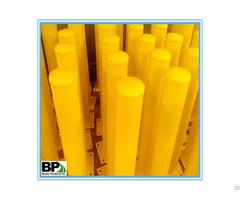 Yellow Powder Coat Pipe Safety Bollard