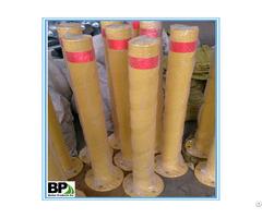 Round Pipe Traffic Warning Bollard With Base