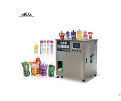 Automatic Spout Pouch Liquid Water Capping Mango Juice Filling Machine