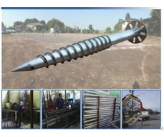 Solar Mounting Ground Screw With Flange Made Of Hot Dip Galvanized Carbon Steel