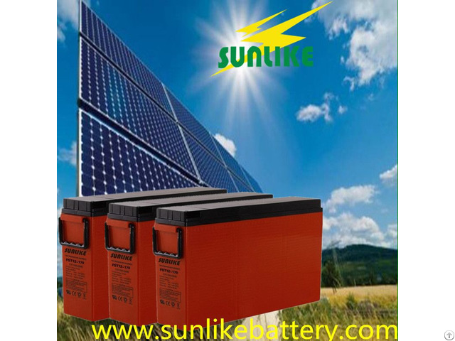 Small Space 12v150ah Front Terminal Telecom Battery For Solar Panel