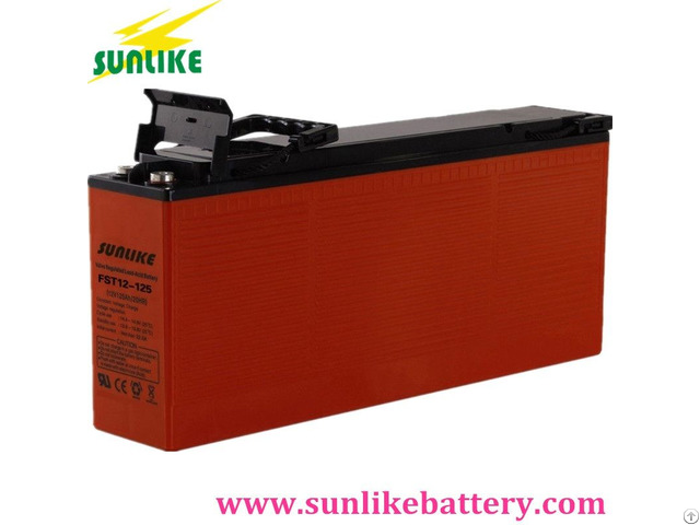 Front Access Terminal Telecom Battery 12v125ah For Power Supply