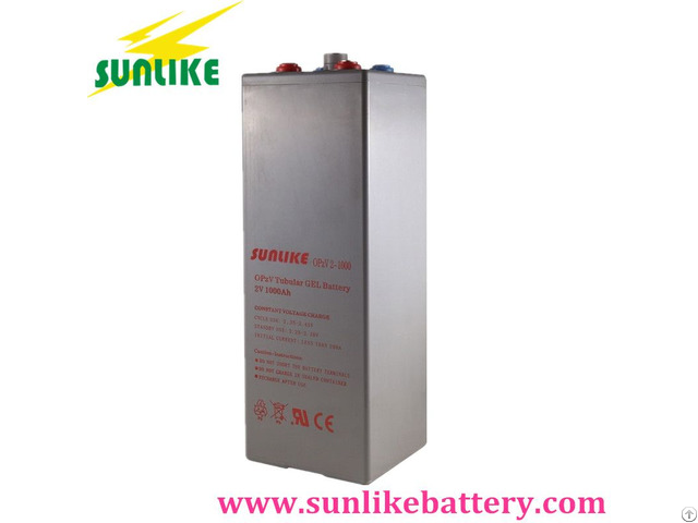 2v1000ah Opzv Tubular Gel Battery With 25years Life