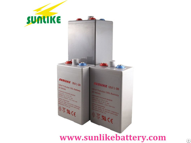High Quality Opzv Tubular Gel Battery 2v350ah With 25years Life