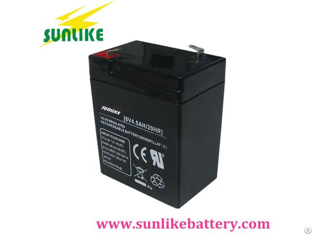 Deep Cycle Lead Acid Agm Solar Power Ups Battery 6v4 5ah