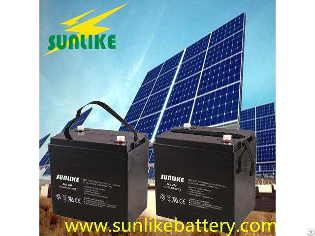 Lead Acid Agm Solar Ups Battery 6v100ah For Alarm System