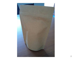 Simple Kraft Paper Bag With A Zipper
