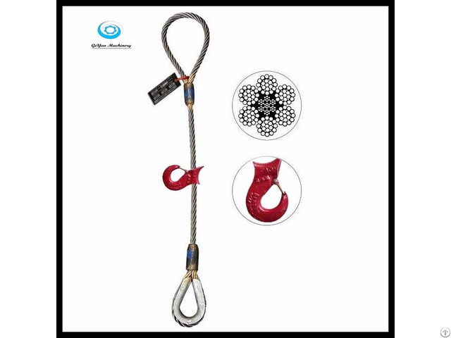 Eye Sliding Choker Wire Rope Sling With Thimble