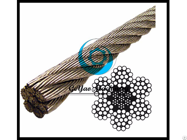 Stainless Steel Wire Rope 304 Iwrc 6x19 Class Lineal Foot
