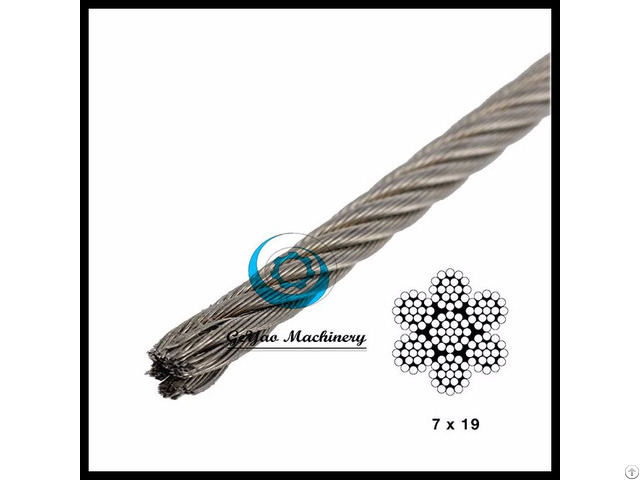 Stainless Steel Wire 7x19 Aircraft Cable Type 316 Linear Foot