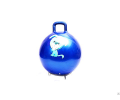 Toy Manufacturer Inflatable Colorful Fitness Jumping Ball With Handle For Children