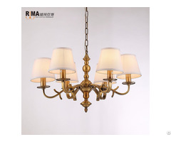 Rm1926 Guest Room Gold Bronze Chandelier Light