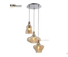 Glass Ceiling Light 3 Piece In One Pendant