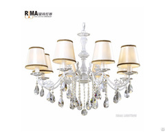 Russian Style Best Selling Hanging Fabric Shade Chandelier