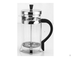 Heat Resistant Glass French Coffee Press Tea Maker With Stainless Steel Holder