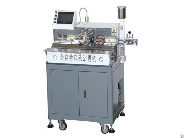 Ac 220v 50 60hz Motor Drive Computer Stripping Twist Line Immersion Tin Machine